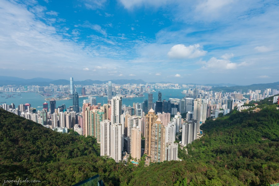 Hong Kong as viewed from Victoria Peak