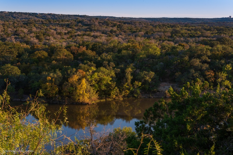 Fall foliage at Inks Lake State Park Texas