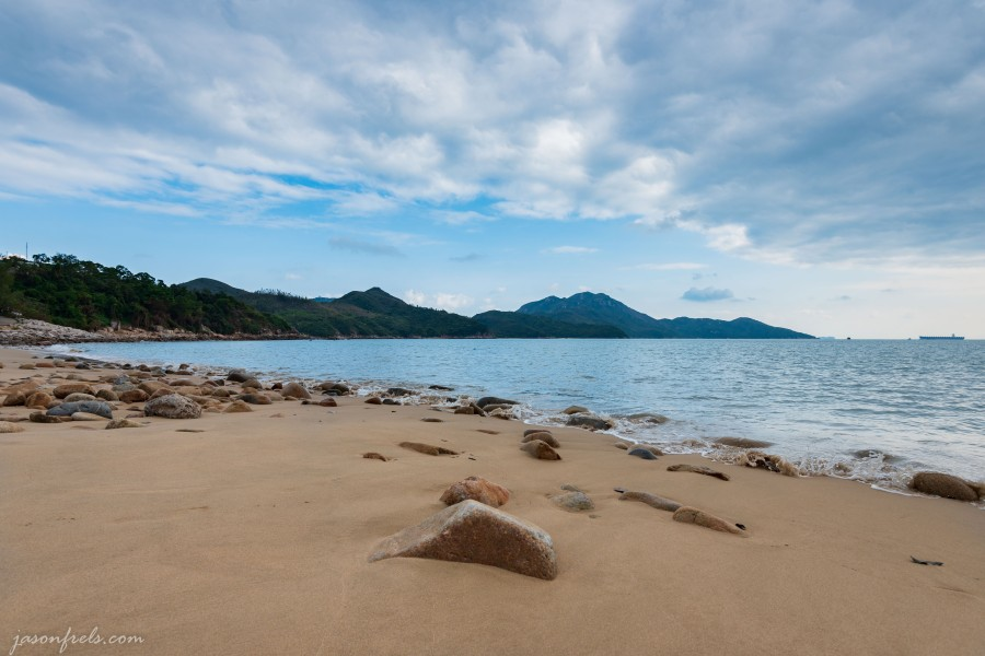 Power Station Beach on Lamma Island in Hong Kong