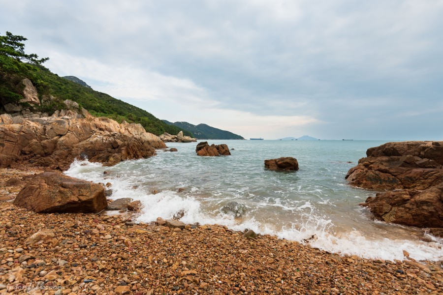 Waves on the rocks at Lo So Shing Beach, Lamma Island, Hong Kong