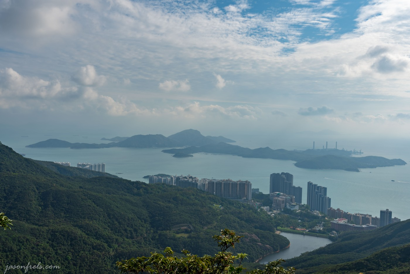 Lamma Island as seen from Victoria Peak on Hong Kong Island