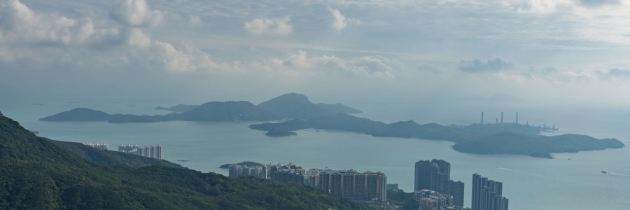 Lamma Island as seen from Victoria Peak on Hong Kong Island