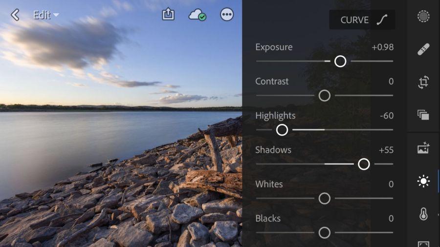 Adobe Lightroom CC App on iPhone