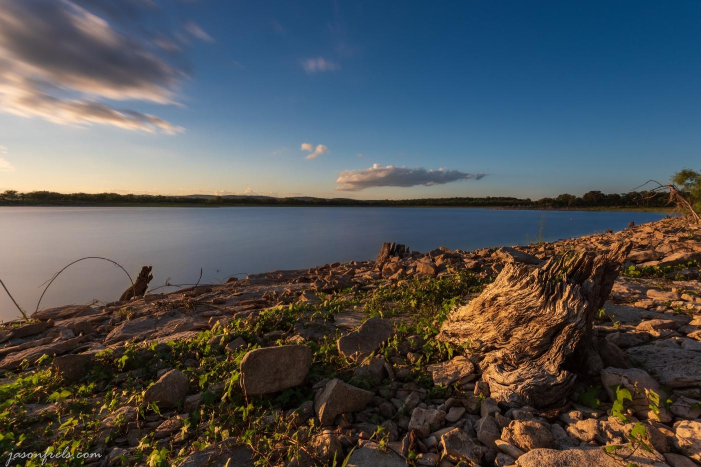 Sunset at Lake Buchanan, long exposure
