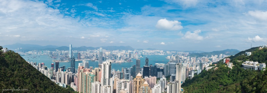 Panorama of Hong Kong as viewed from Victoria Peak