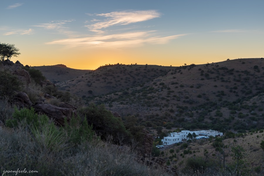 Indian Lodge at Davis Mountains State Park Texas at sunrise