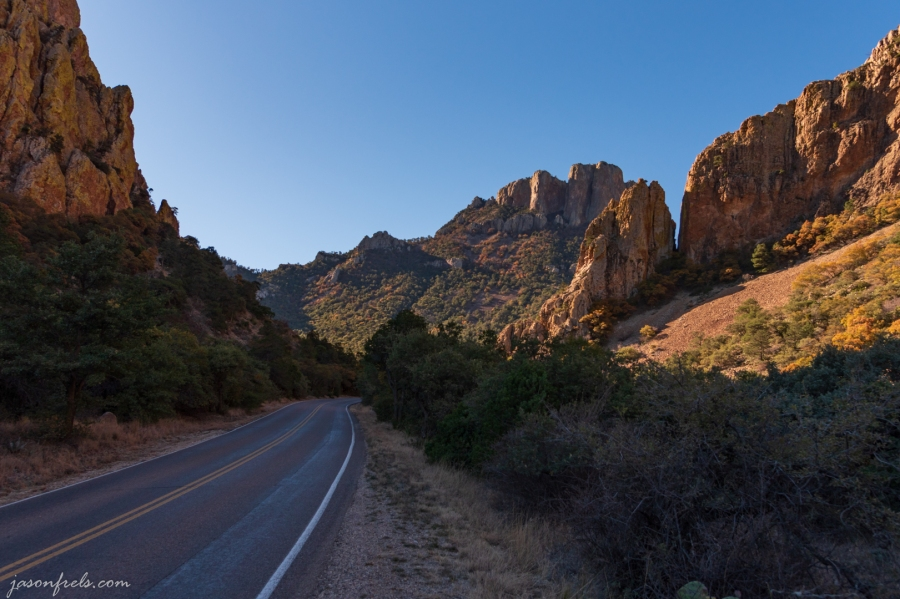 Road to Chisos Basin at Big Bend National Park