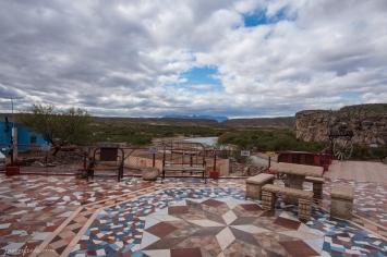 Patio of Jose Falcon's in Boquillas del Carmen Mexico