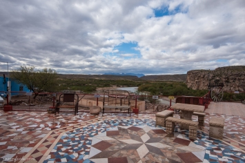 Patio of Jose Falcon's in Boquillas del Carmen Mexico