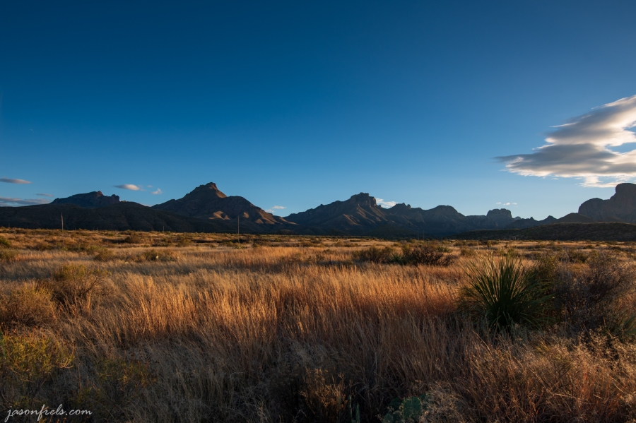 Golden Hour at Big Bend National Park in Texas