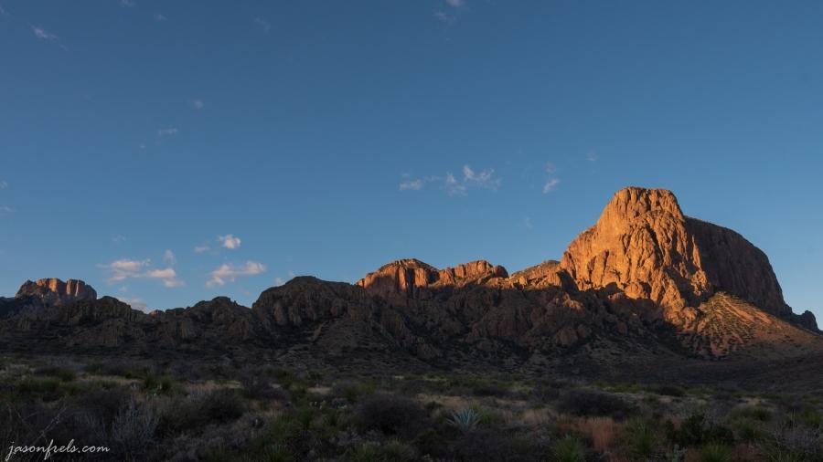 First light on peaks at Big Bend National Park