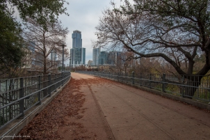 Pedestrian bridge across Lady Bird Lake in Austin