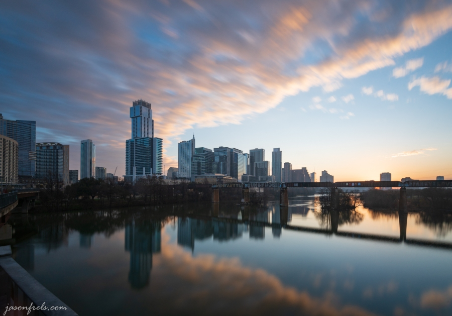 Long exposure of Austin Texas at dawn