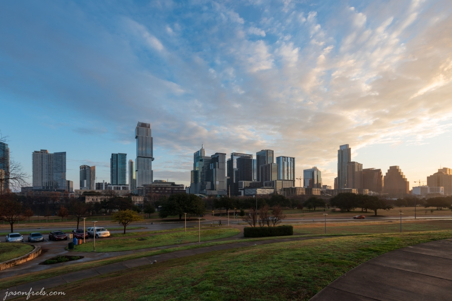 Downtown Austin Texas at sunrise