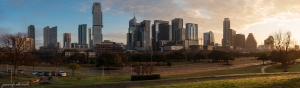 Panorama of downtown Austin Texas at dawn
