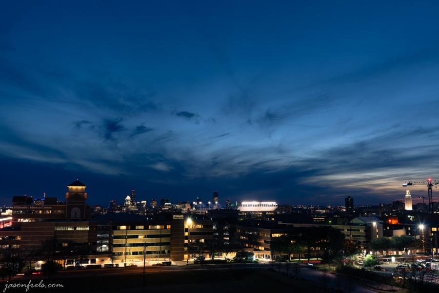 Austin Texas skyline at blue hour