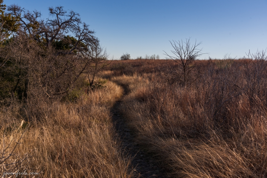 Indian Grass Trail at Balcones Canyonlands National Wildlife Refuge in Central Texas