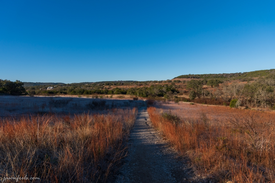 Along the main trail at Balcones Canyonlands National Wildlife Refuge in Central Texas