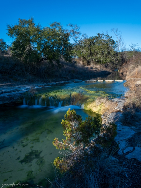 Long Exposure waterfall at Balcones Canyonland National Wildlife Refuge