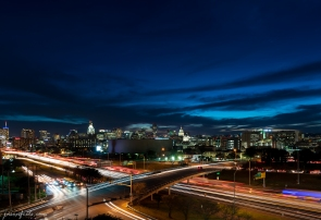 Downtown Austin Texas after Sunset