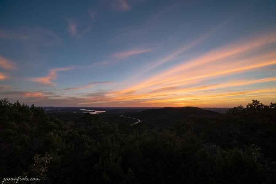 Sunset over Lake Travis Texas