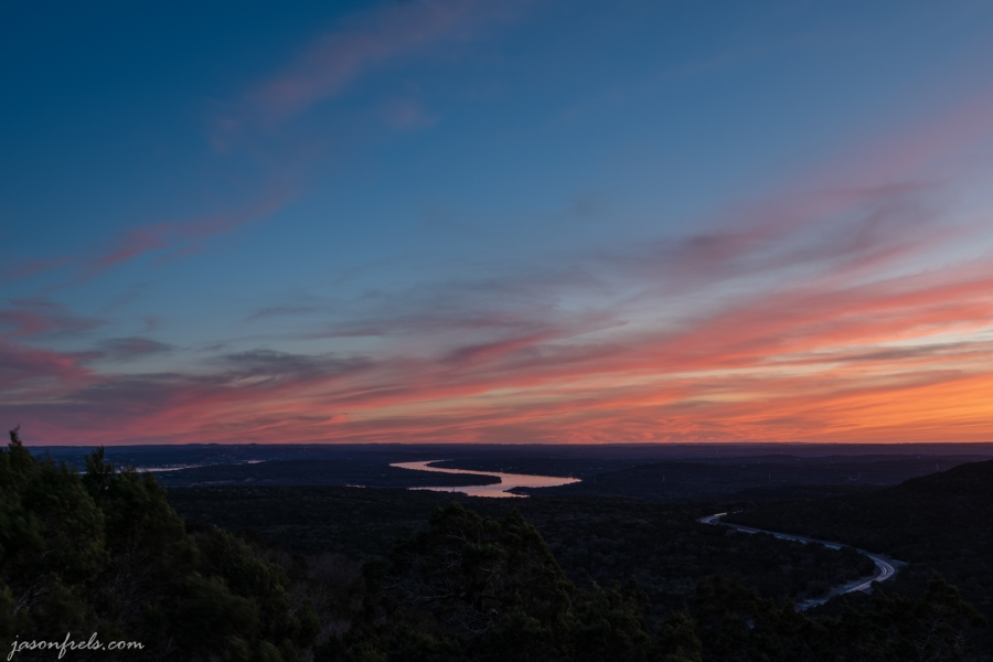 Sunset over Lake Travis Texas