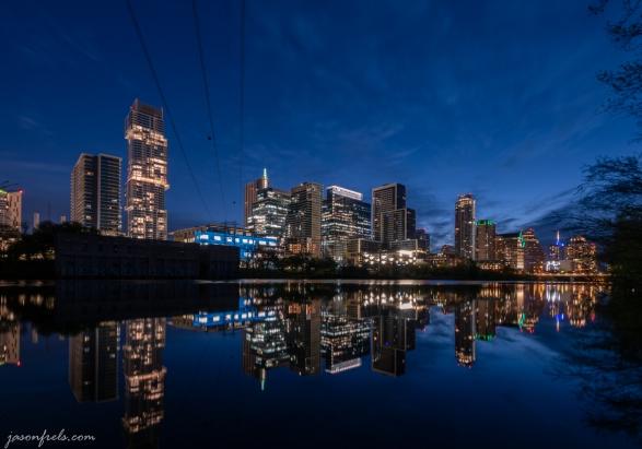 Downtown Austin Texas in the predawn twilight