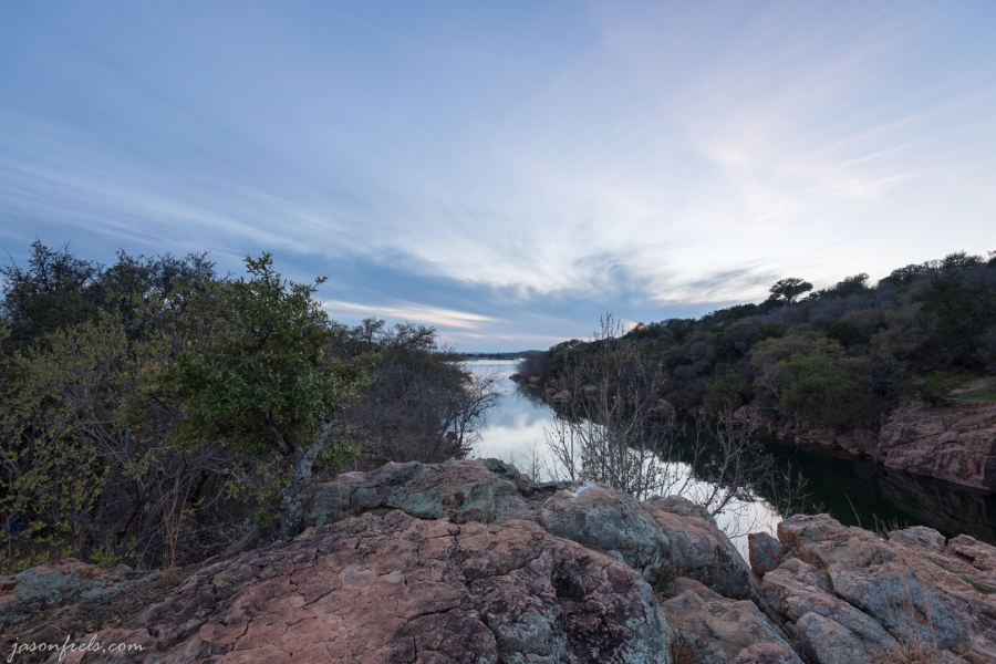 Granite overlook at Inks Lake State Park Texas