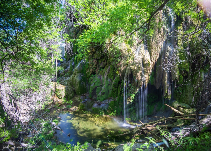 Gorman Falls at Colorado Bend State Park in HDR