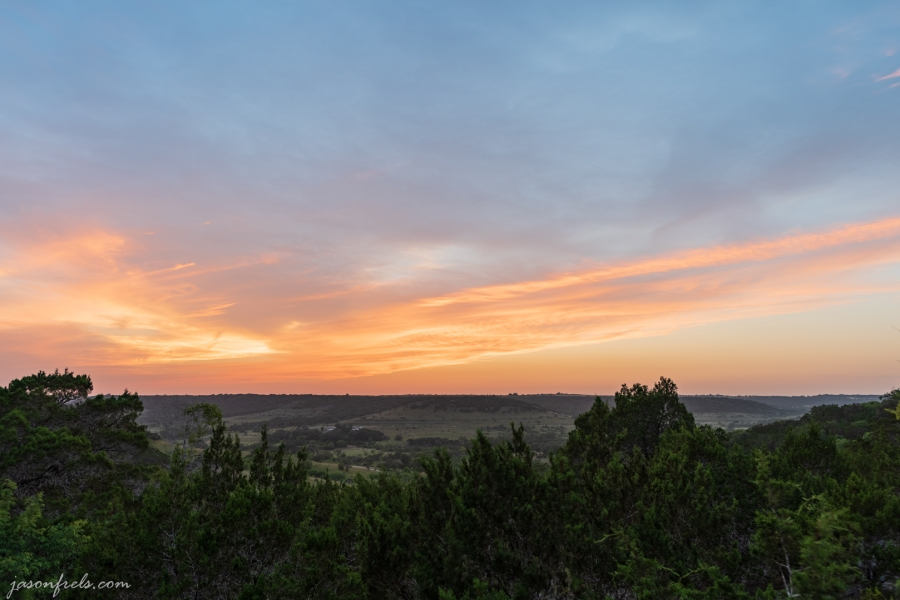 HDR Sunset from Balcones National Wildlife Refuge