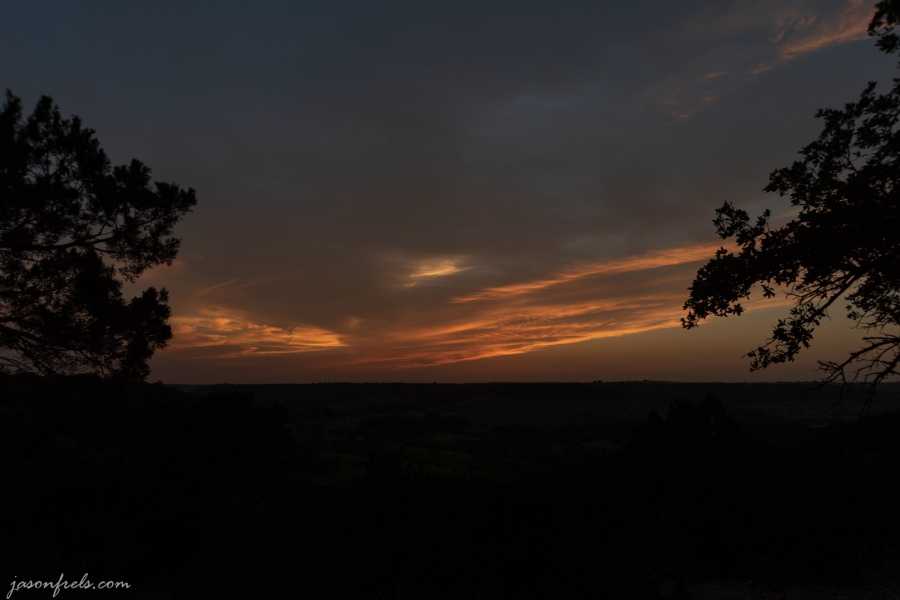 Balcones-Canyonlands-HDR-Sunset-Before-1