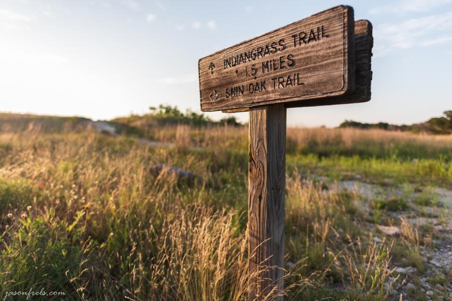Sign Post at Balcones Canyonlands National Wildlife Refuge