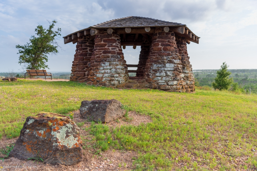 Overlook Stone Gazebo at Bastrop State Park