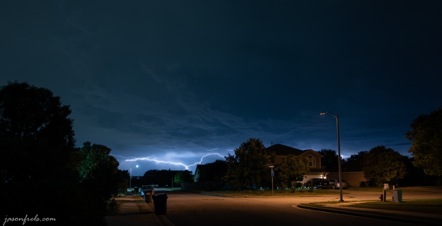 Lightning in Leander Texas