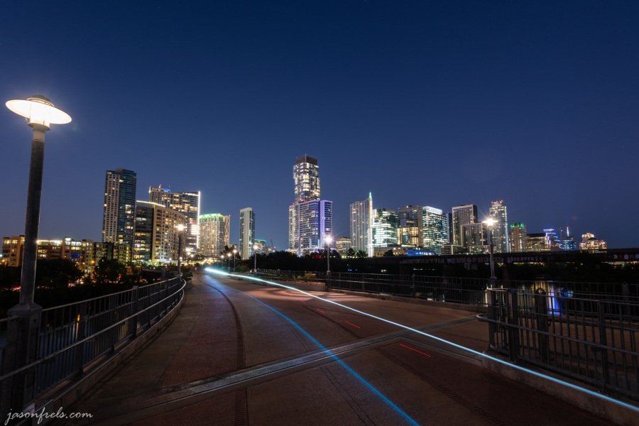 Downtown Austin Beyond the Pfluger Pedestrian Bridge