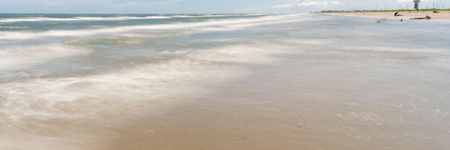 Beach at Galveston Island State Park - 2s Exposure