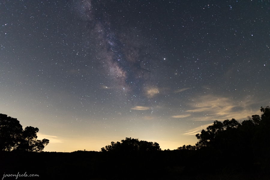 Milky Way from Pedernales Falls State Park