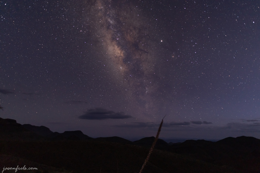 The Milky Way at Twilight Over Big Bend