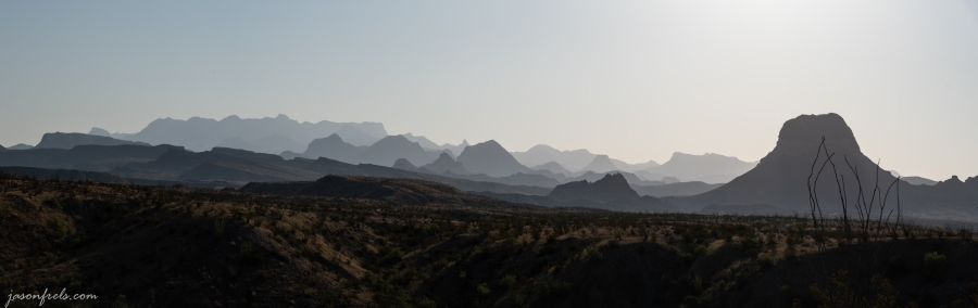 Big Bend Mountains Layered in the Morning Haze