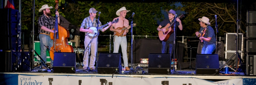 The Bottom Dollar String Band at the Leander Bluegrass Festival