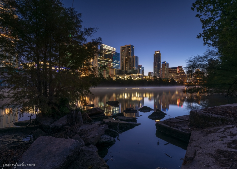 Austin Downtown in Predawn Twilight