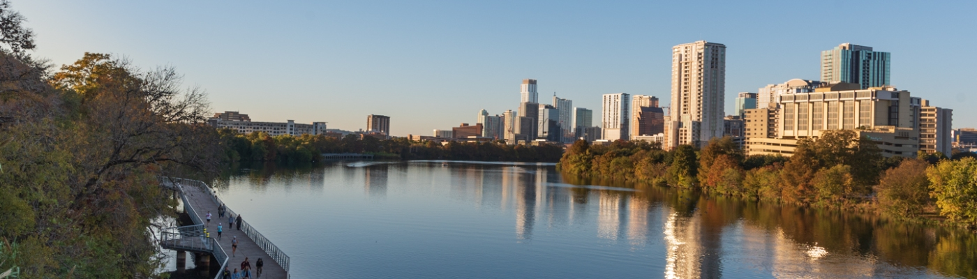 Austin at Sunset in Autumn