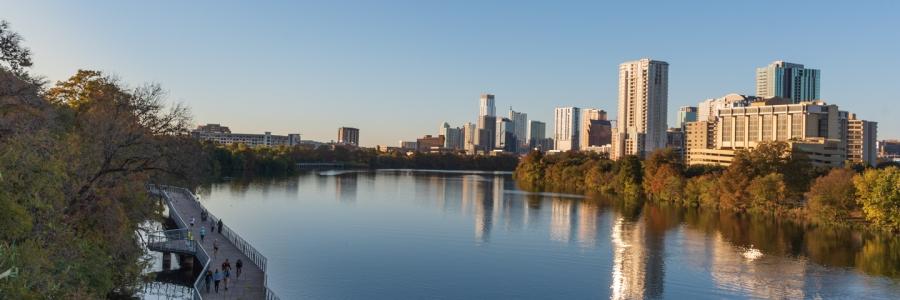 Austin at Sunset in Autumn