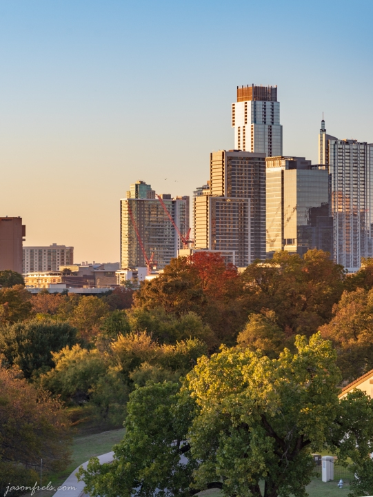 Austin During Golden Hour in Autumn