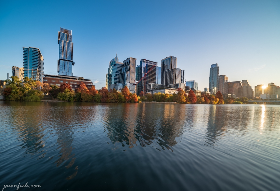 Downtown Austin at Dawn with Autumn Color
