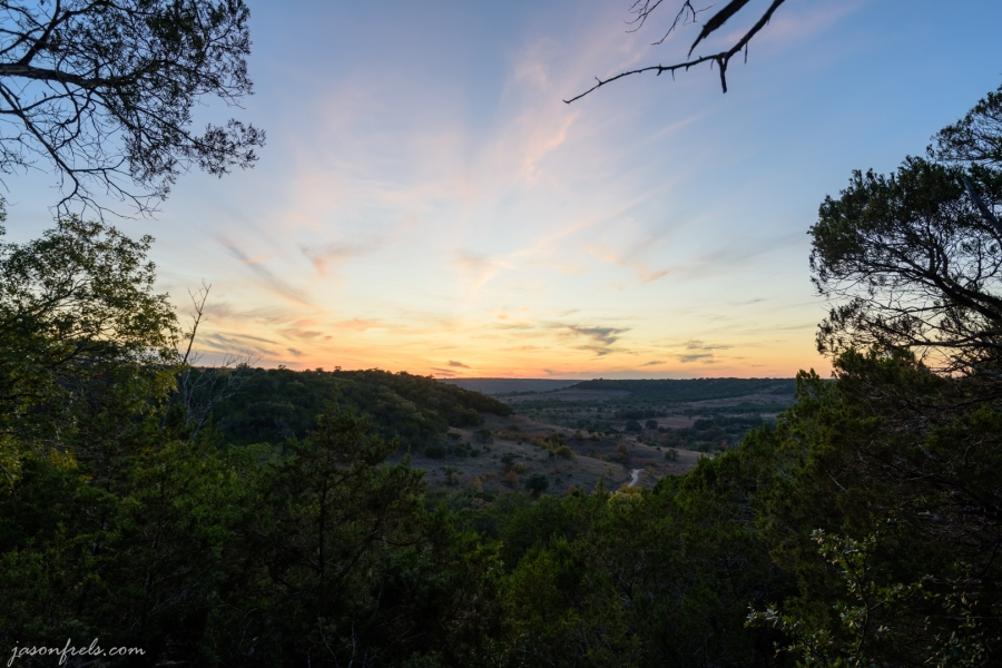 Sunset at Balcones Canyonlands