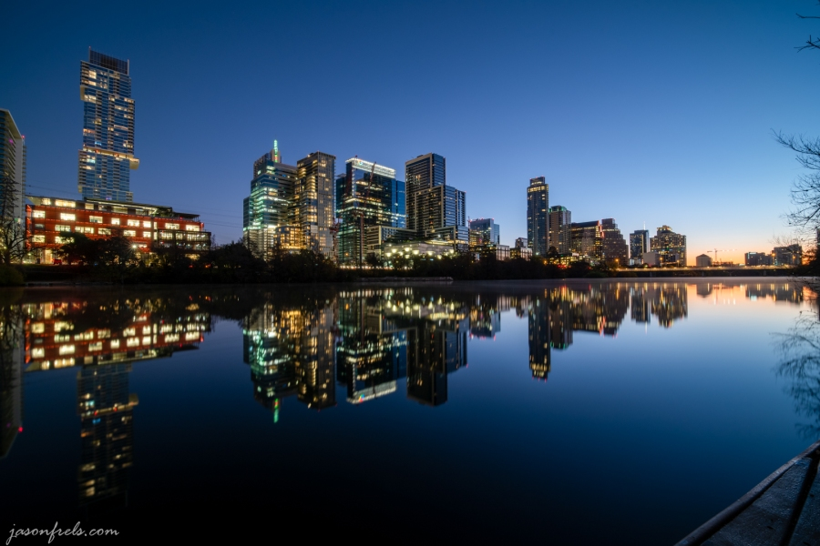Downtown Austin Reflected in Lady Bird Lake