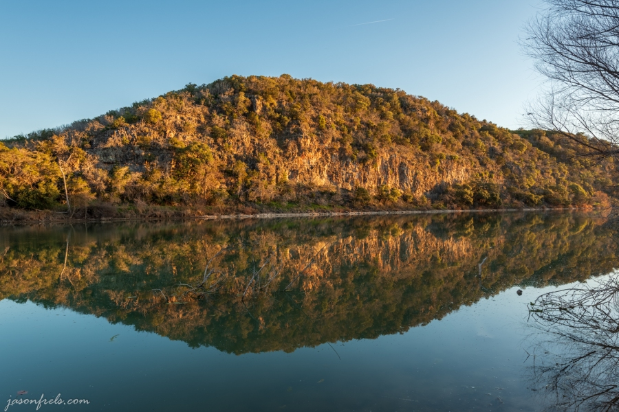 Colorado River from Colorado Bend State Park Texas