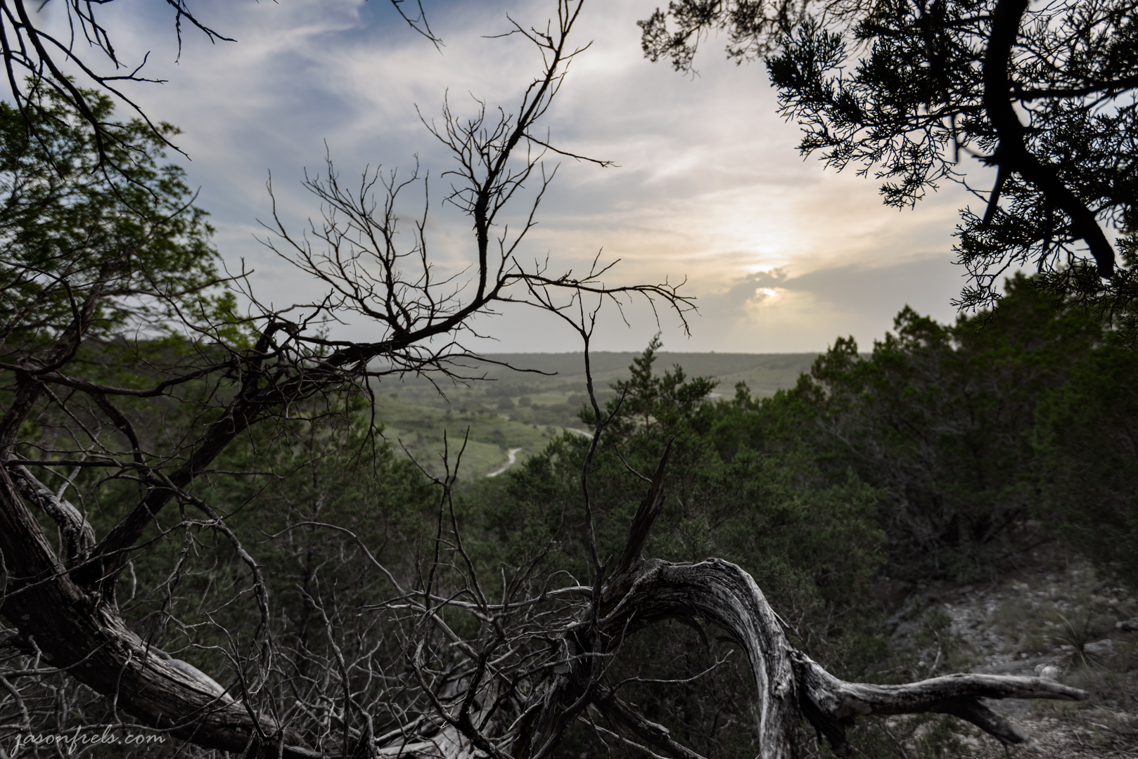 Hazy Sky at Balcones Canyonlands National Wildlife Regfuge