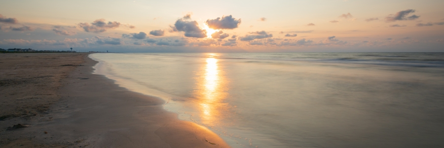Long Exposure of a Beach Sunrise